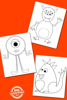 Feature Monster Coloring Pages copy