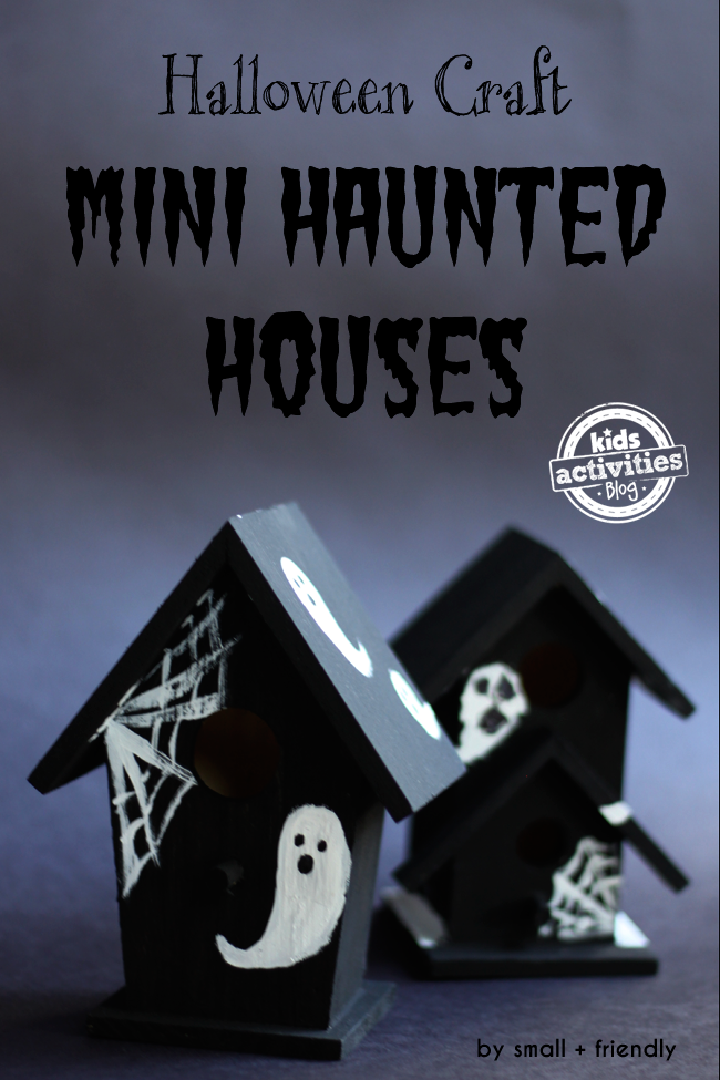 Halloween Craft - Mini Haunted Houses