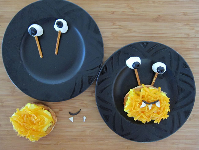 Halloween Monster Breakfast Sandwich