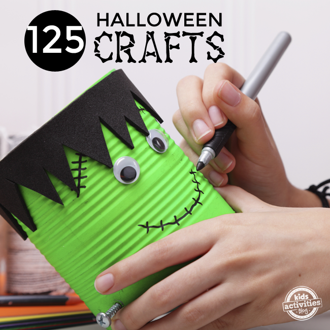 A Huge List of Halloween Crafts {125 Ideas!}