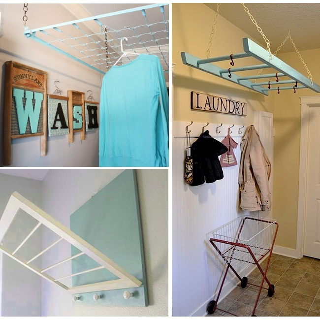 Love it! DIY drying rack inspiration for the laundry room