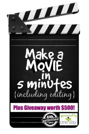 Make a MOVIE in 5 Minutes - Kids Activities Blog