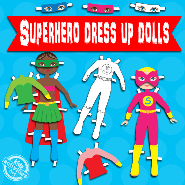 Superhero Dress Up Dolls