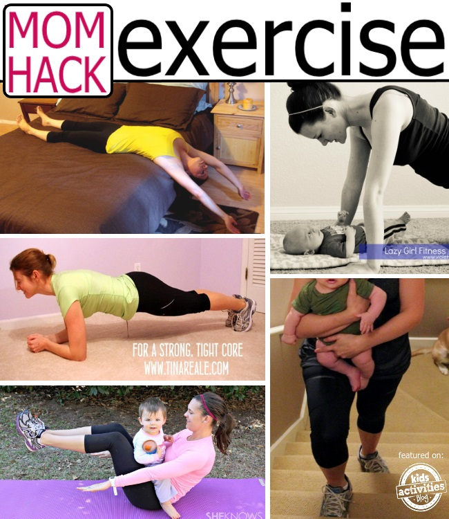 Ways to exercise from real moms