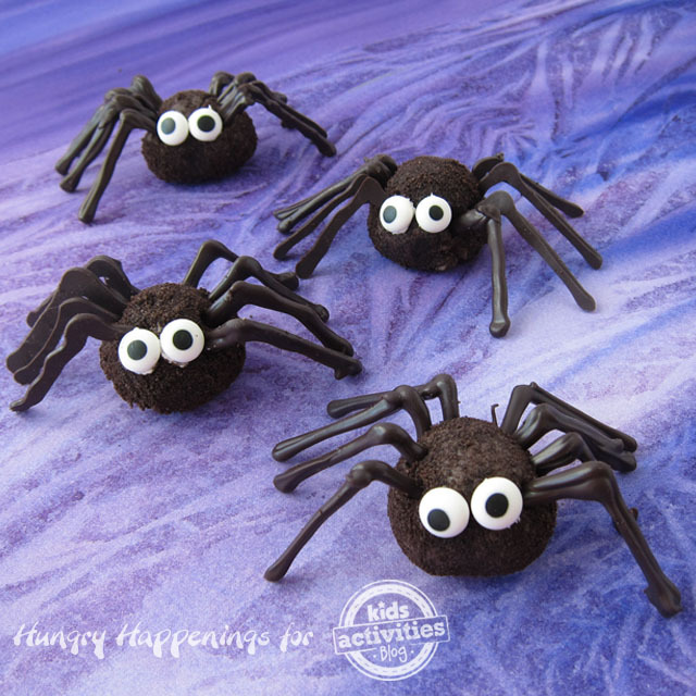 Chocolate Oreo Truffle Spiders