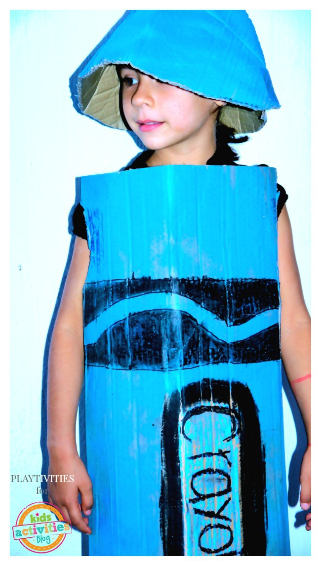 Diy Crayon Costume From Cardboard