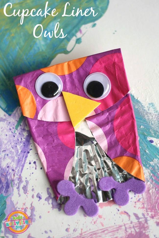 pink cupcake liner owl