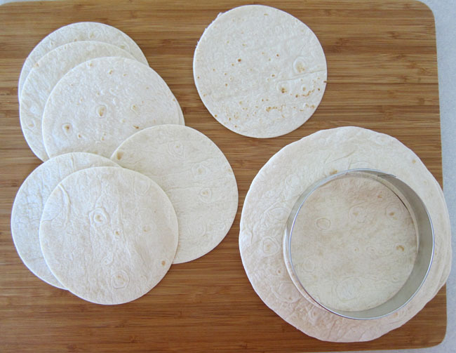 Cutting round tortillas