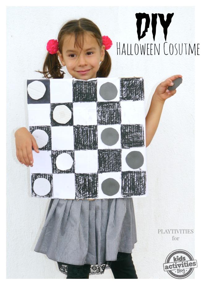 DIY Checkers Halloween Costume