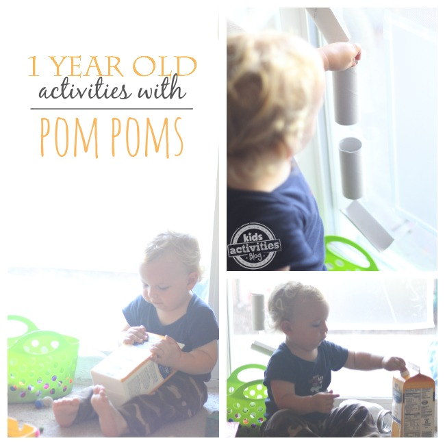 Fun doesn't have to be complicated ~ 1 year olds will love these pom pom activities!