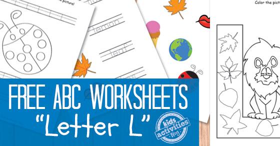 letter l worksheets free kids printable. Black Bedroom Furniture Sets. Home Design Ideas
