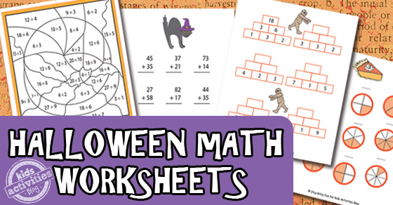 Number Names Worksheets make maths worksheets : Halloween Math Worksheets Free Kids Printable