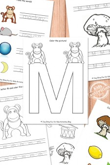 Letter M Worksheets Free Kids Printable