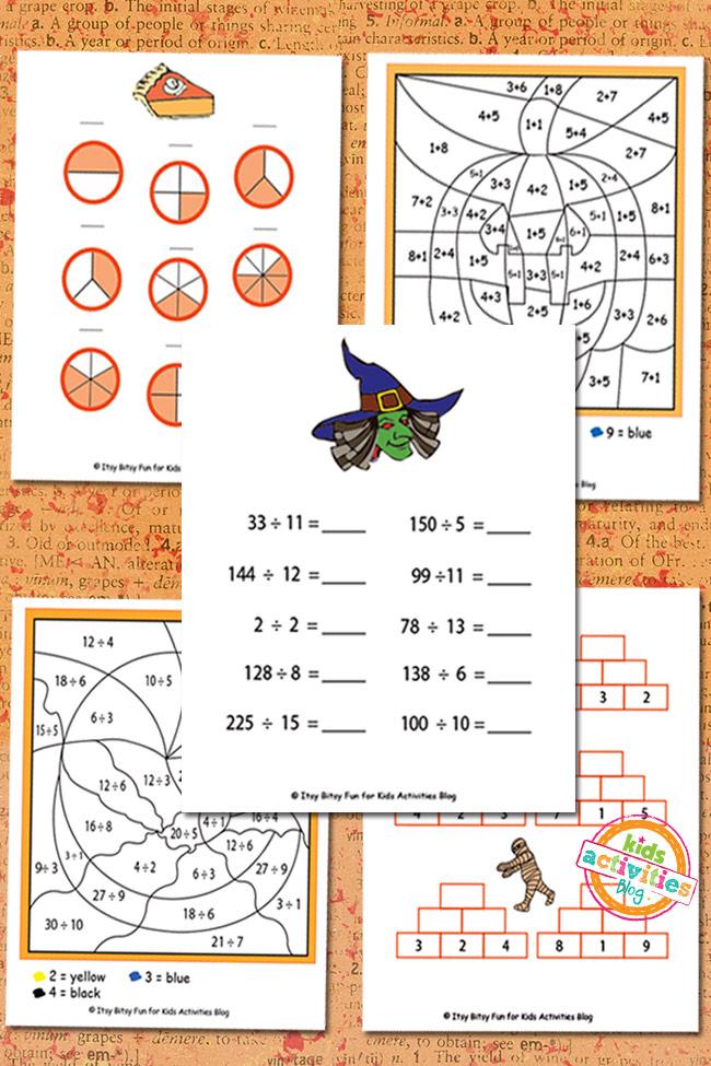 Halloween Math Worksheets Free Kids Printable – Halloween Math Worksheets for Kindergarten