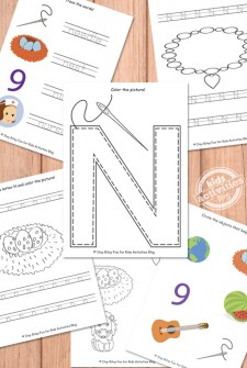 Letter N Worksheets Free Kids Printable