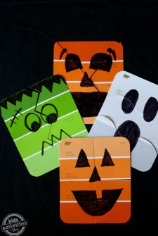 {Paint Chip Puzzles} Simple Halloween Games!