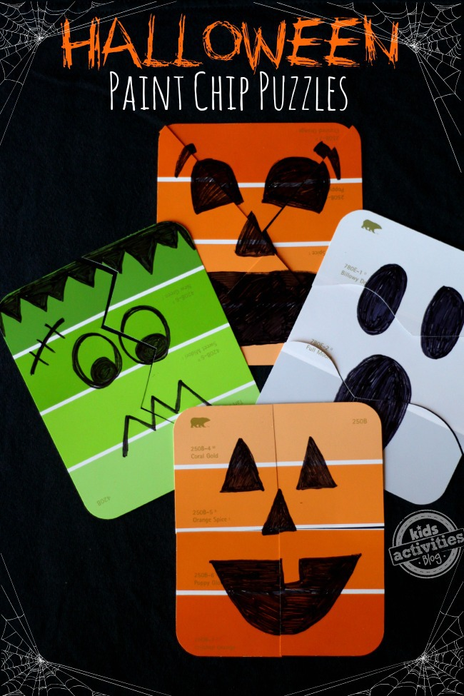 Paint Chip Puzzles} Simple Halloween Games!
