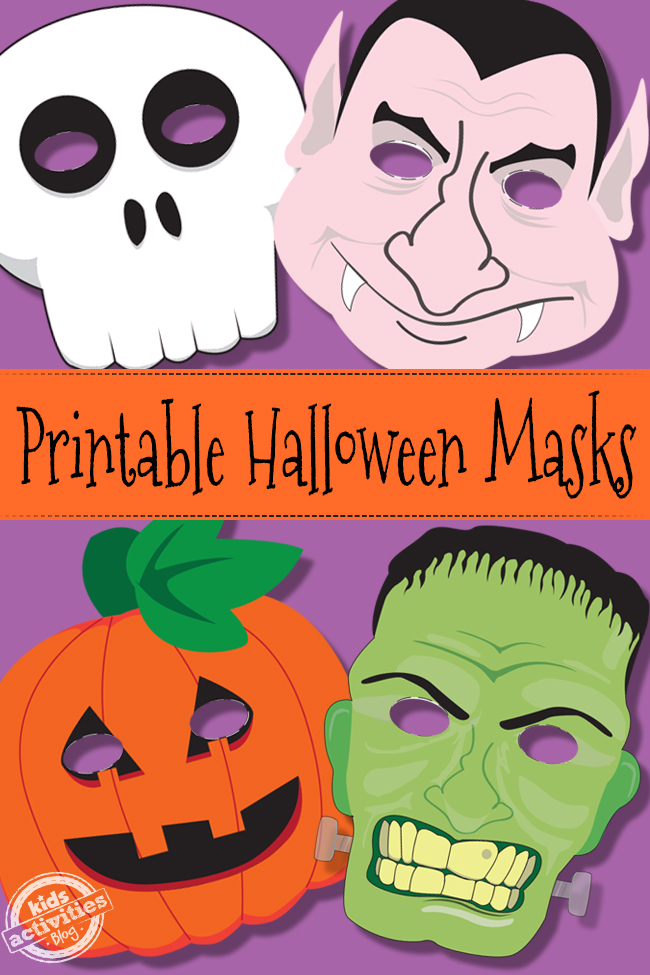 photo regarding Free Printable Halloween Masks titled Halloween Masks No cost Small children Printable
