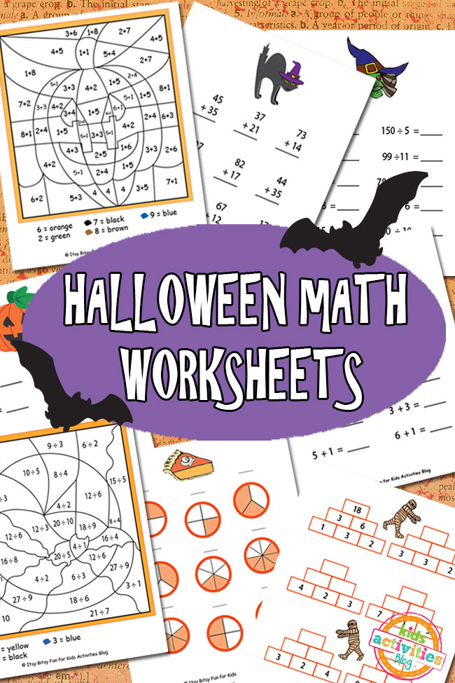 Math Worksheets Free Kids Printable – Halloween Addition Worksheet