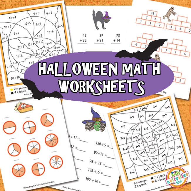 Halloween Math Worksheets Free Kids Printable – Halloween Addition Worksheet