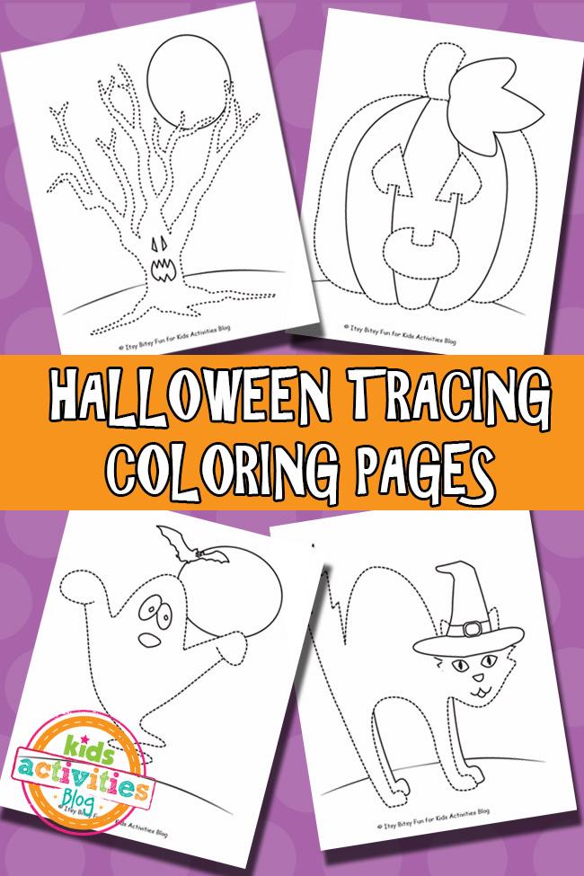 Free Printable Halloween Tracing
