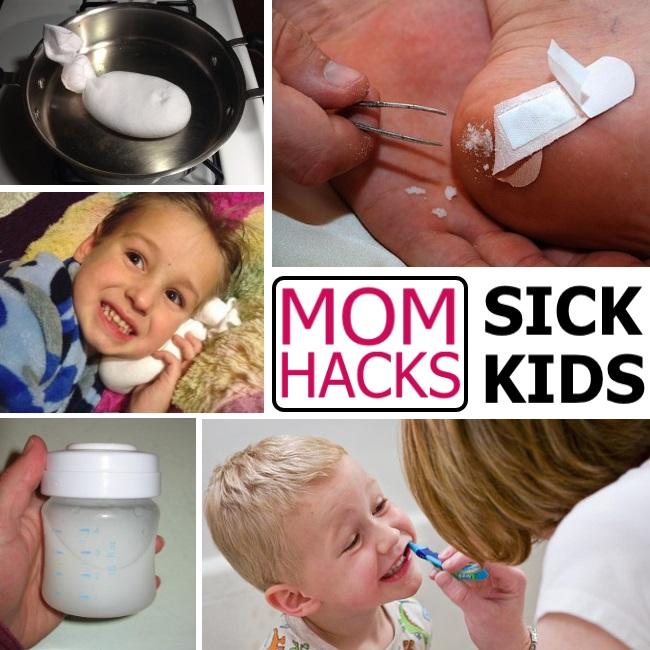 help sick kids feel better health hacks for moms