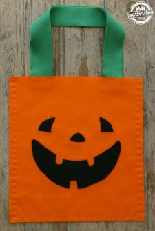 Sew a Jack O'Lantern Bag with Your Kids for Halloween