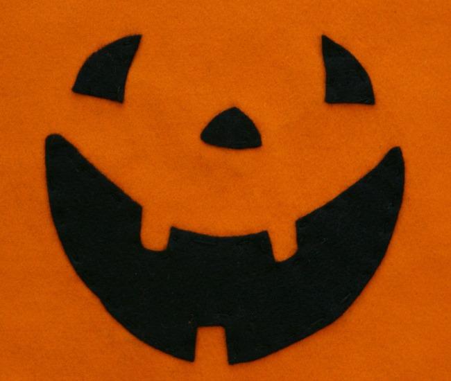 sew pumpkin treat bag with kids