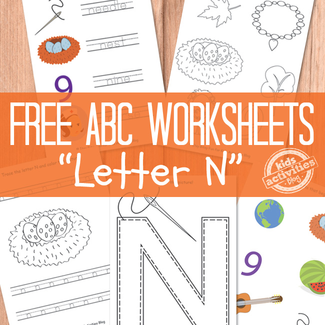 photograph relating to Letter N Printable titled Letter N Worksheets Totally free Young children Printable