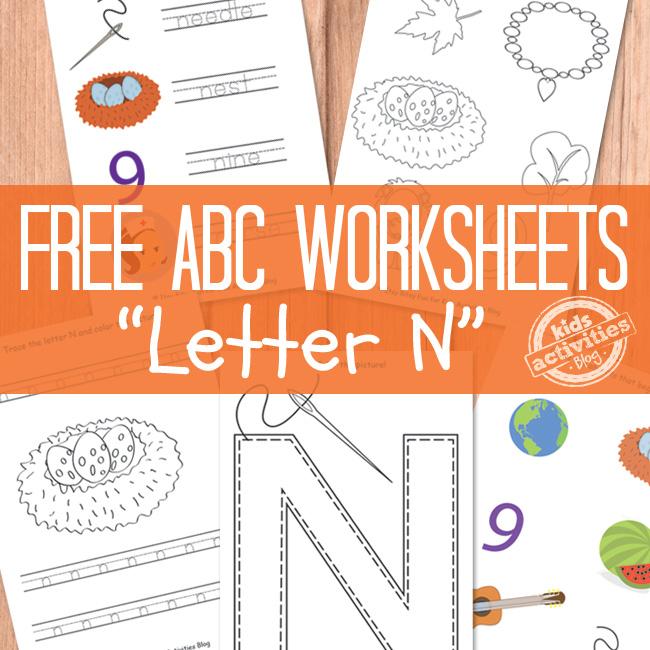 Letter N Worksheets Free Kids Printable – Letter N Worksheets for Kindergarten