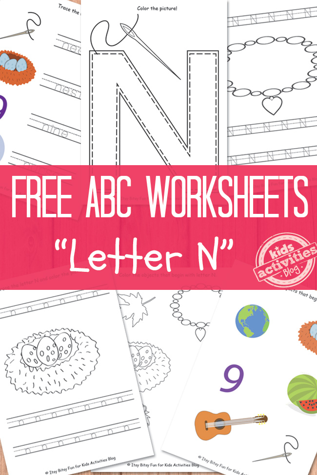 Letter N Worksheets Free Kids Printable – Letter N Worksheets for Kindergarten