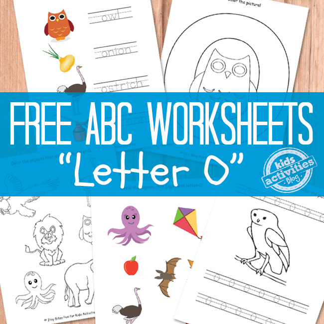 Letter O Worksheets Free Printable