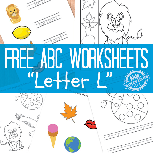 Letter L worksheets to print out
