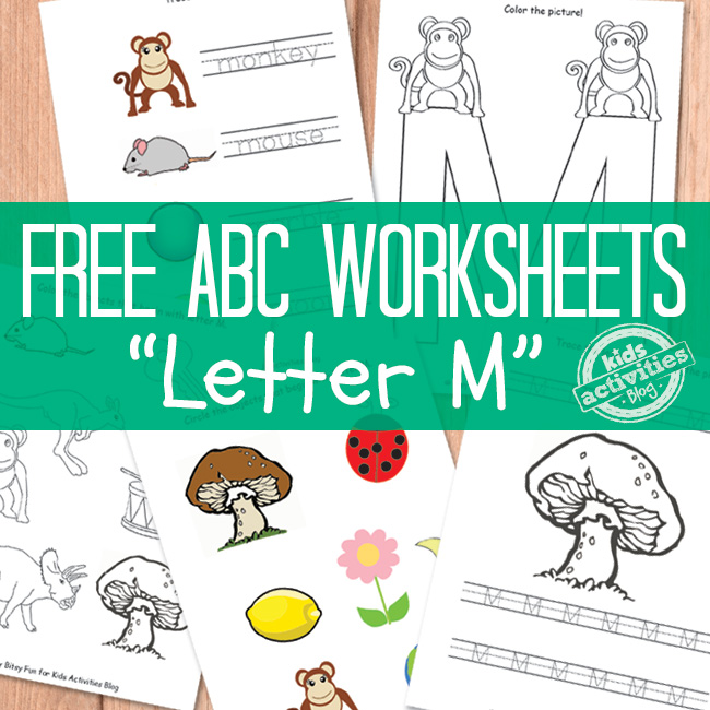 Letter M Worksheets Free Kids Printable – Letter M Worksheets