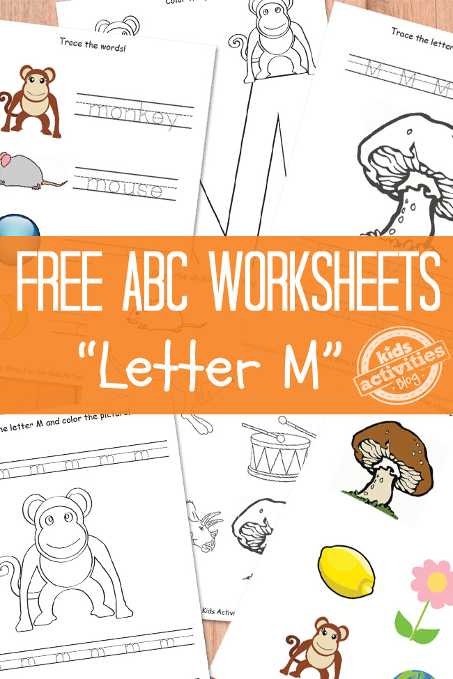 letter m worksheets free kids printable. Black Bedroom Furniture Sets. Home Design Ideas