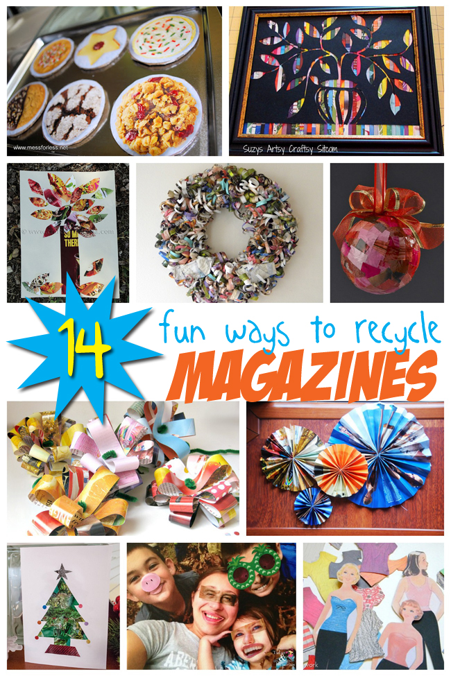 14 crafts from magazines recycling projects. Black Bedroom Furniture Sets. Home Design Ideas