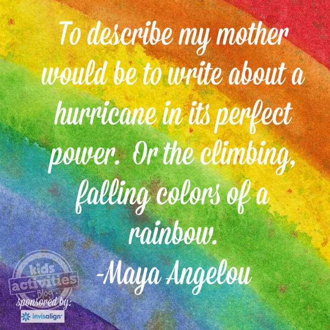 Maya Angelou Motherhood quote