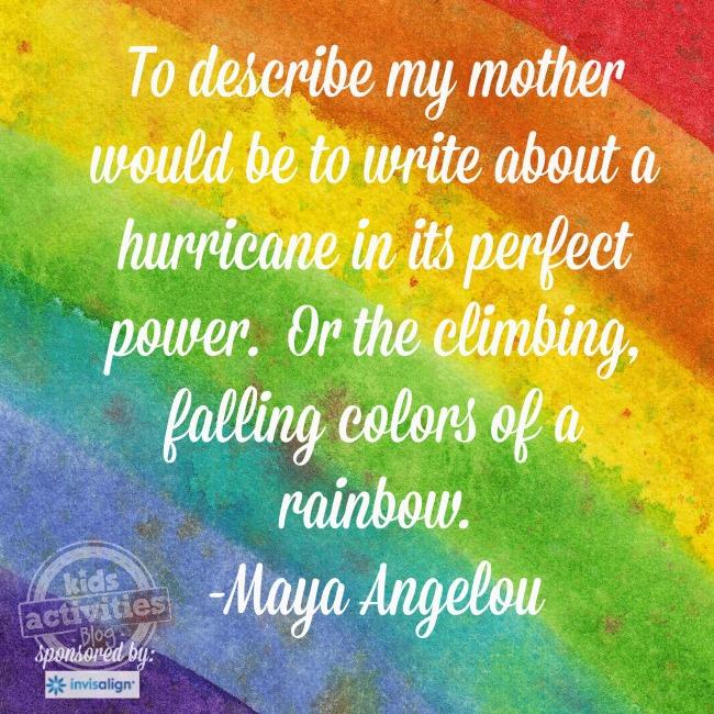 Maya Angelou Motherhood quote