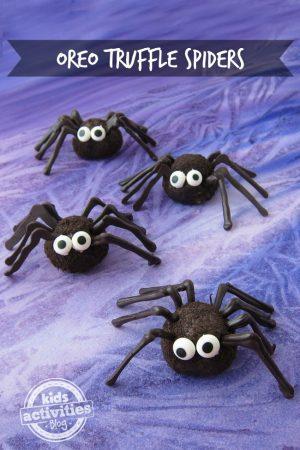 Oreo Truffle Spiders