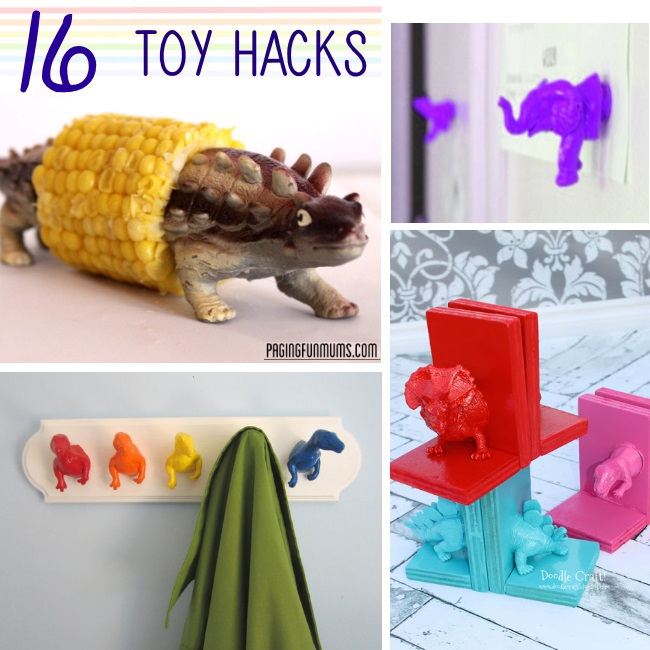 over a dozen ways you can repurpose toys that your kids love. Great ideas for decorating kids rooms