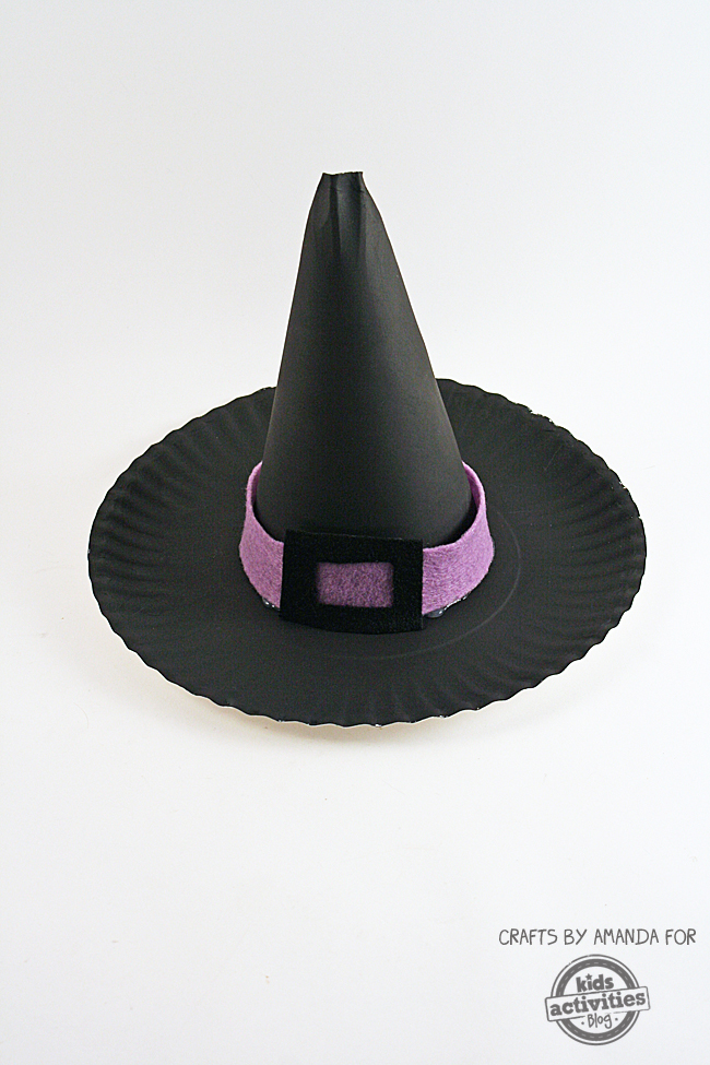 Paper Plate Witch 39 s Hat