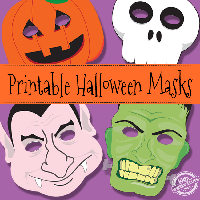 graphic about Free Printable Halloween Masks titled Halloween Masks Cost-free Small children Printable