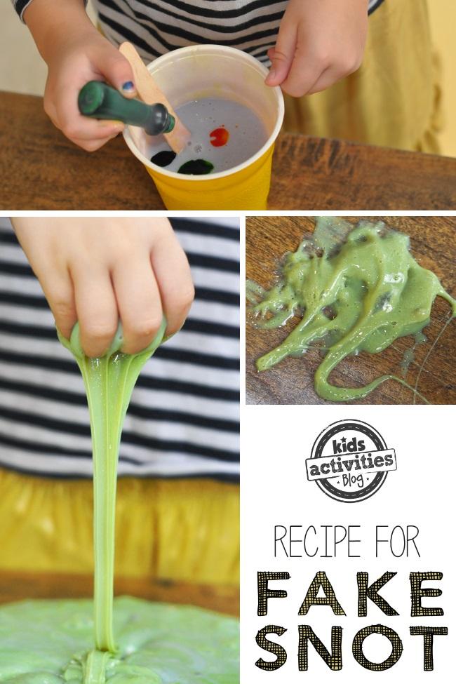 recipe to make pretend snot