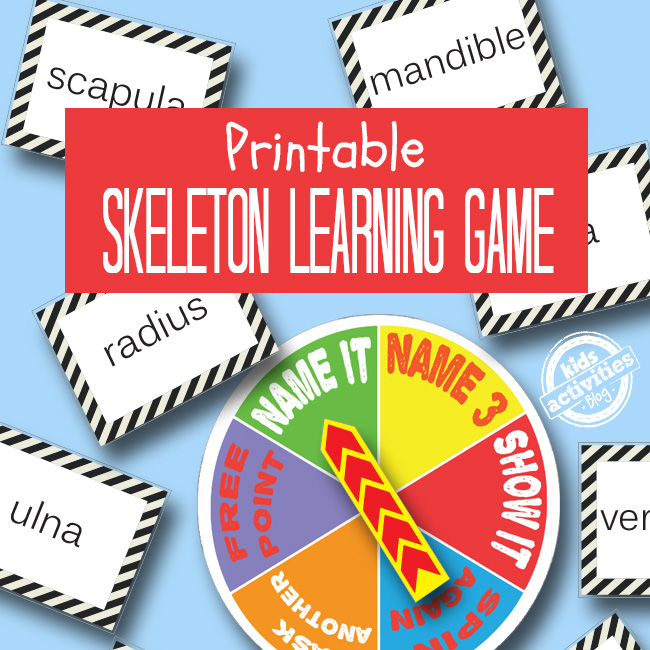 Skeleton Learning Printable Game