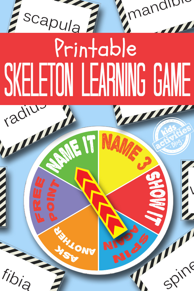 Skeleton Printable Game