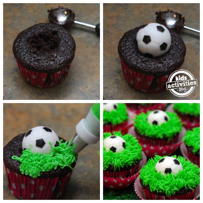 Cake Design Dragon Ball : Soccer Cupcakes