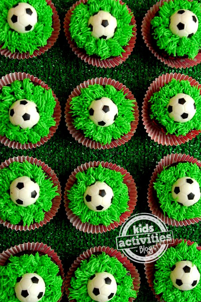 soccer cupcakes ball football