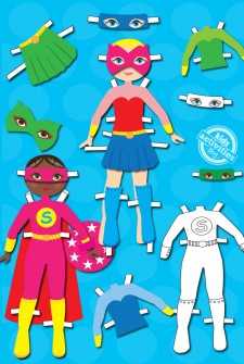 Superhero Dress Up Dolls {Free Kids Printable}
