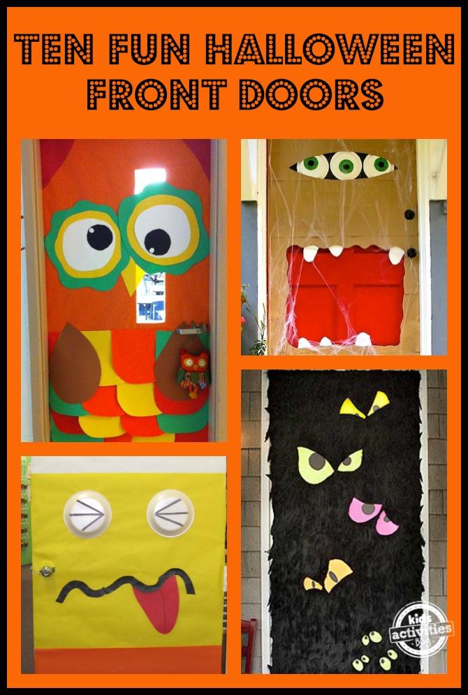 Owl Classroom Door Decorations ~ Ten fun halloween front doors kids activities