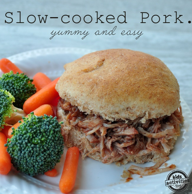 the best pork bbq ever made with the crock pot